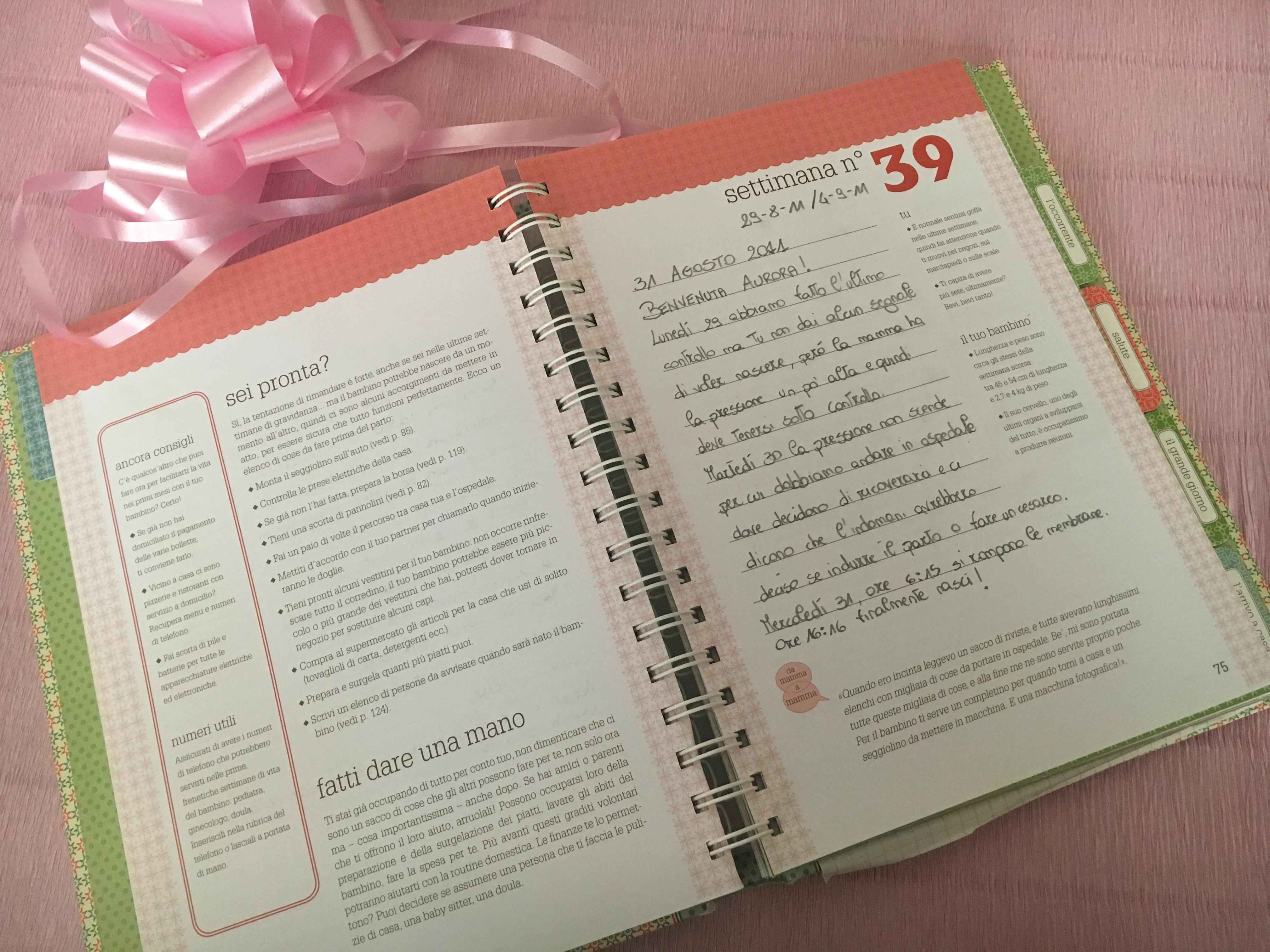 Diario di viaggio: le mie agende della gravidanza