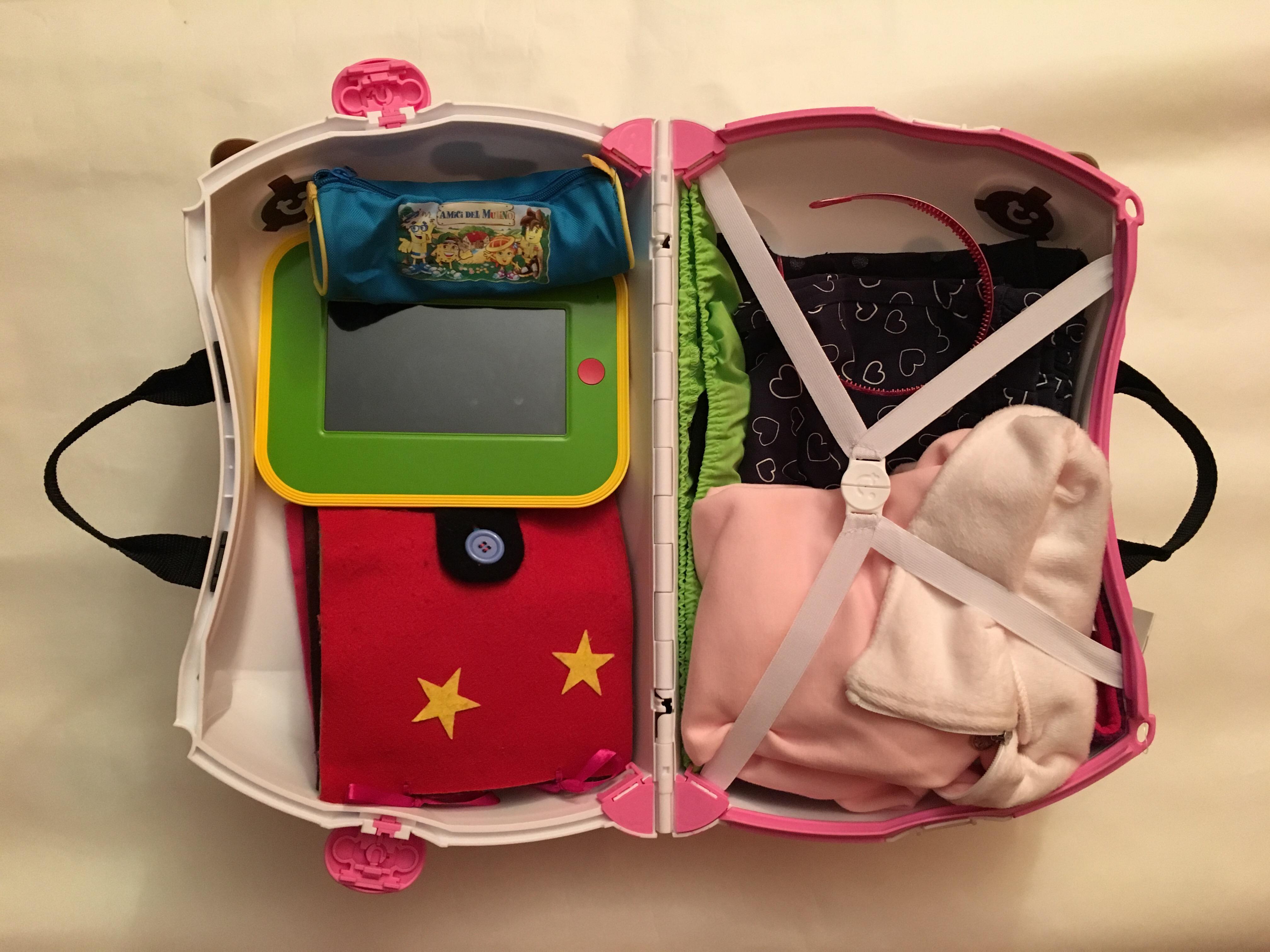 Viaggiare in aereo con bambini: cosa mettere nel bagaglio a mano?