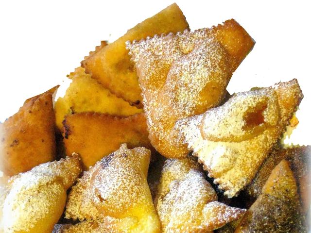 Crostoli ripieni di marmellata o mostarda senza glutine