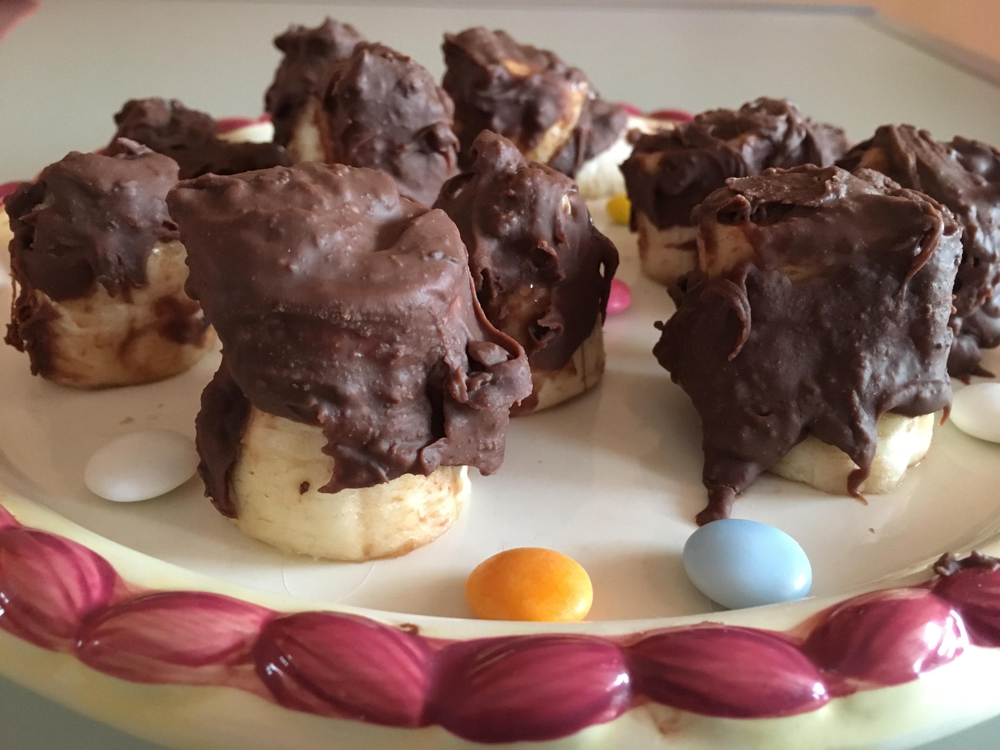 Ricicliamo le uova di cioccolato: banane al cioccolato