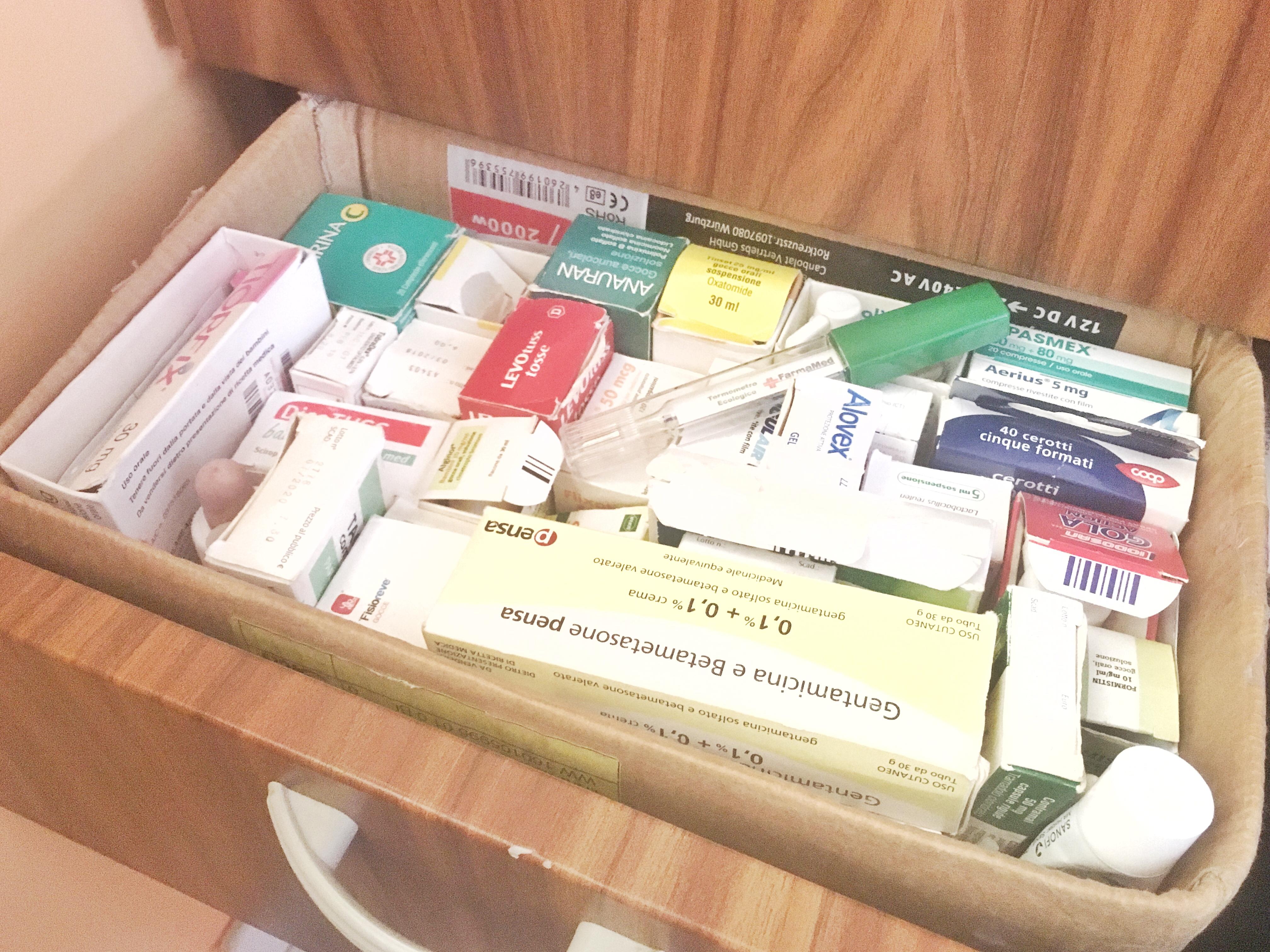 Farmaci e medicinali, cosa portare e come organizzarsi in camper?