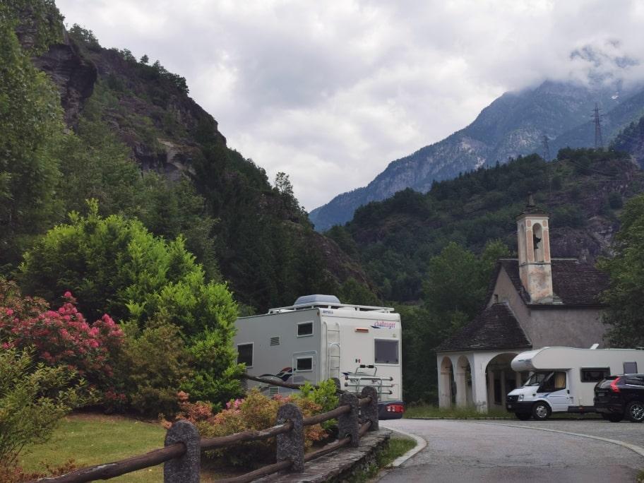 In camper Toce